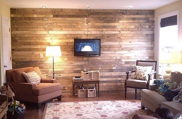 Дерево - очень популярный материал для отделки стен в гостиной комнате - otdelat.ru