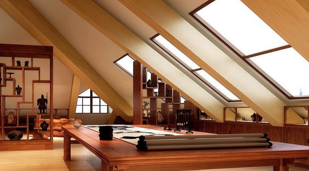 Когда говорят о мансарде - потолочные балки никогда не будут лишними при декорировании - otdelat.ru
