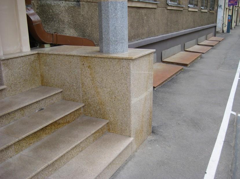 Облицовка общественных зданий - здесь гранит используется активно - otdelat.ru