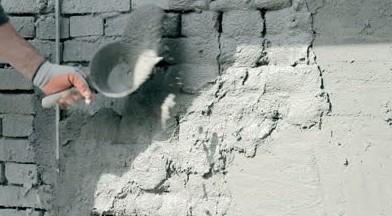 Обрызг стены штукатурным раствором - otdelat.ru