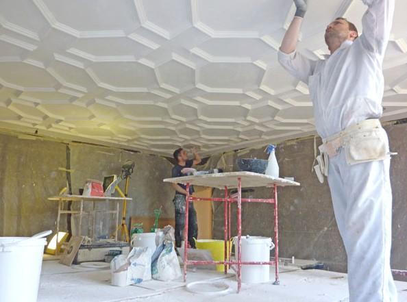 Декоративная штукатурка потолка может выглядеть так - otdelat.ru