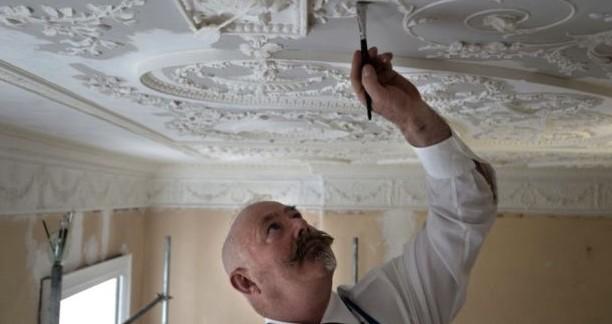 Проработка декоративных деталей на потолке - otdelat.ru