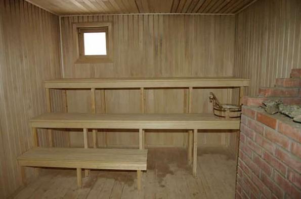 Штукатурку используют для отделки некоторых помещений в бане из бревна - otdelat.ru