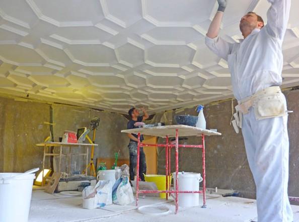 Бригада мастеров-отделочников - не только гарантия качества, но и высокая скорость декорирования потолка - otdelat.ru
