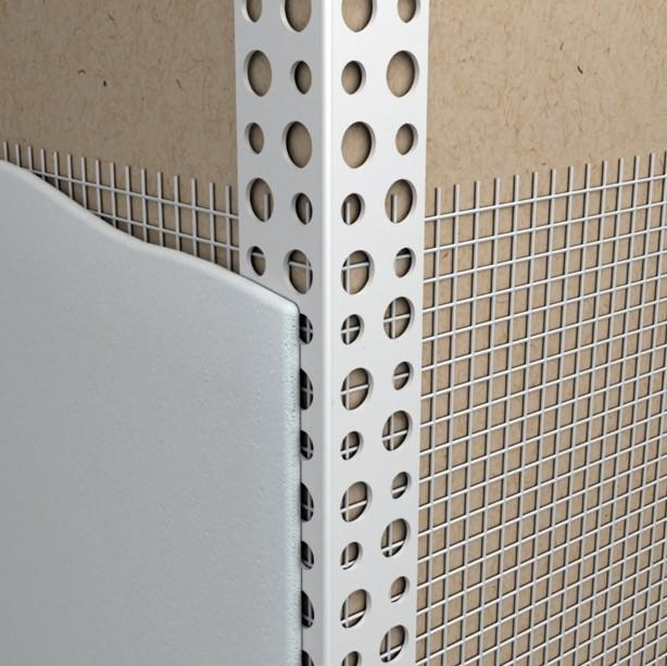 Уголок и арматурная сетка установлены - самое время наносить штукатурный состав - otdelat.ru