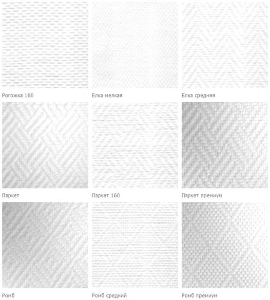 Каждый вид текстуры имеет определённое название (их не так уж много в целом) - otdelat.ru
