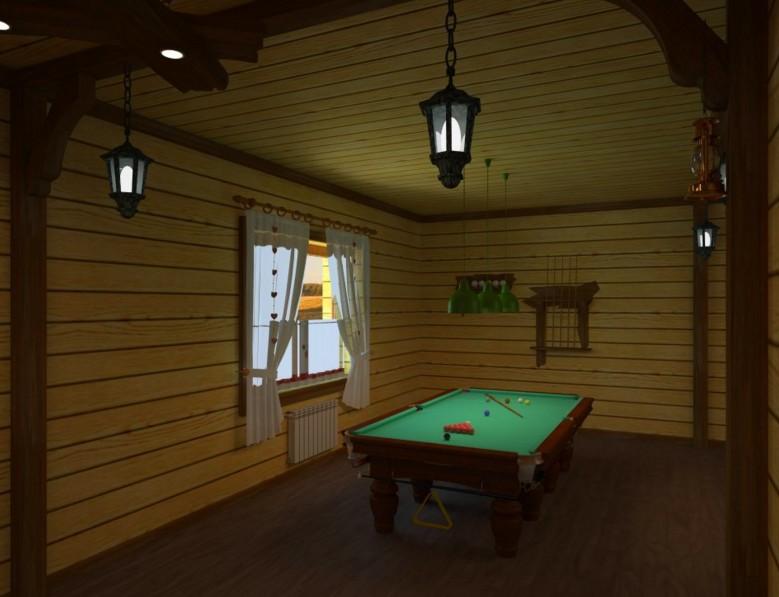 Бильярд в банной комнате отдыха - признак хорошего вкуса - otdelat.ru