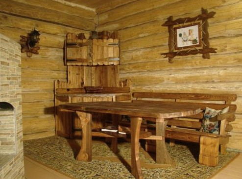 Классический русский интерьер в банной комнате отдыха - otdelat.ru