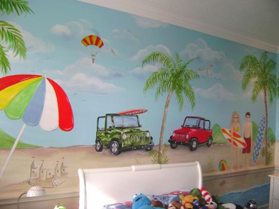 Если включить фантазию - поверхность стены можно расписать очень живописно - otdelat.ru