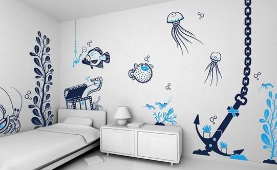 Подобный интерьер комнаты ребёнка тоже допускается - особенно, когда чадо уже ходит в школу - otdelat.ru