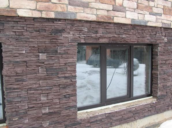 Так декоративный камень выглядит снаружи - в фасадной отделке - otdelat.ru