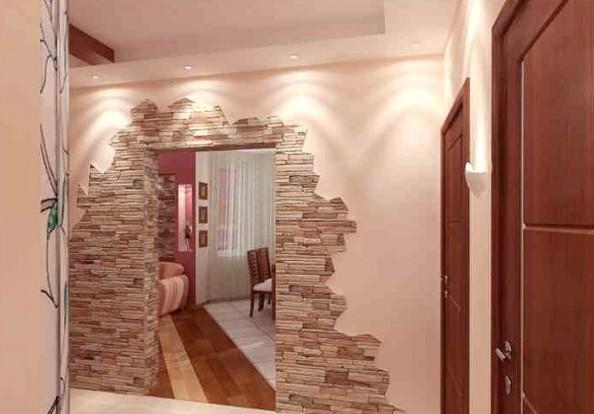 Интересное оформление дверного проёма в художественном плане - otdelat.ru