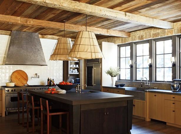 Кухонный интерьер в стиле кантри - и соответствующая отделка потолка - otdelat.ru