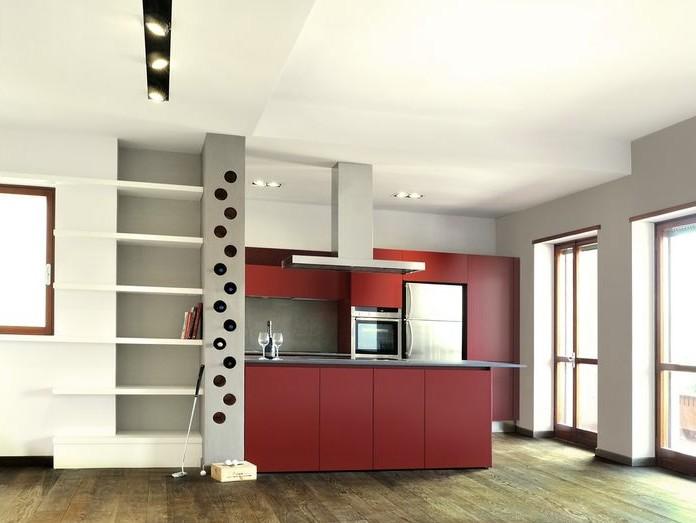 Гипсокартон - простой, универсальный материал. То, что нужно для кухни - otdelat.ru