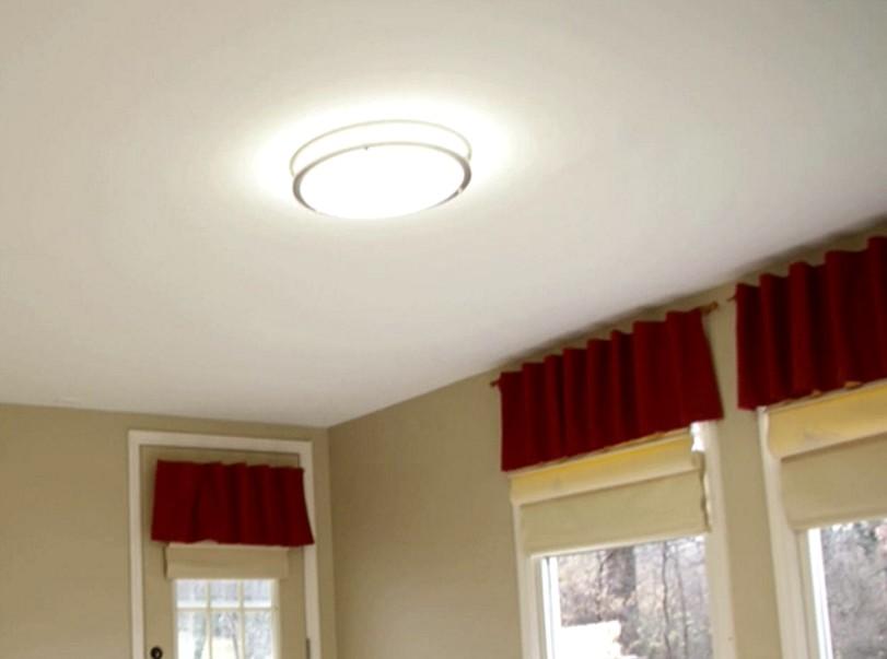 После обшивки потолка гипсокартоном поверхность может обрести такой вид - otdelat.ru