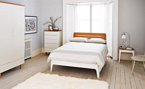 Функциональная и простая спальная, выполненная в скандинавских мотивах - otdelat.ru