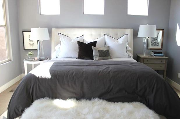 Интерьер спальни - идеальное оформление в серых тонах - otdelat.ru