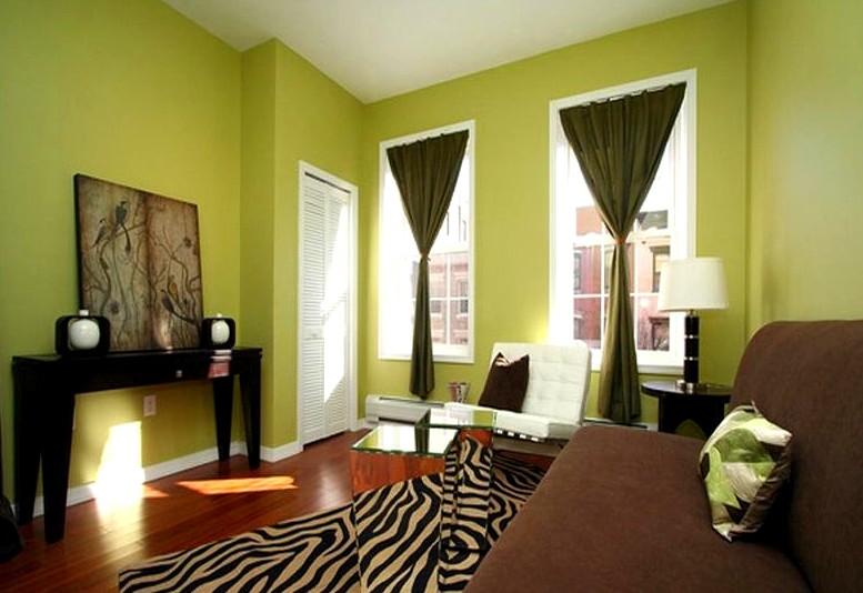 В помещениях отлично смотрится зелёный цвет: дизайнеры часто используют именно его - otdelat.ru