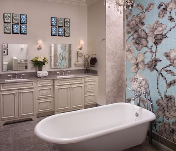 Кроме плитки есть много вариантов по отделке стен в ванной - otdelat.ru