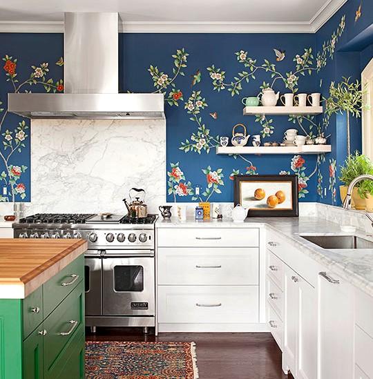 Отделать кухню влагостойкими обоями - это правильное решение - otdelat.ru