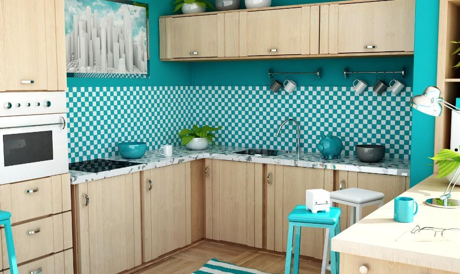 Благодаря современным обоям участок кухонного пространства может выглядеть так - и это не предел мечтаний - otdelat.ru