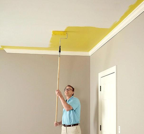 Побелка потолка водоэмульсионной краской - хороший выбор для разных помещений - otdelat.ru