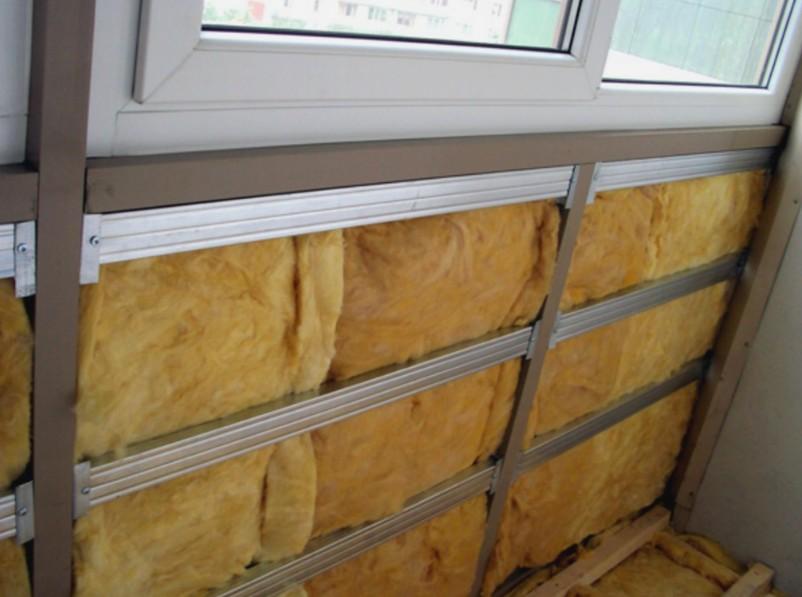 Металлический каркас на балконе и утеплитель - otdelat.ru