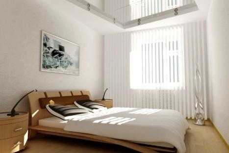 В спальной комнате однотонные обои на стенах смотрятся достойно - otdelat.ru