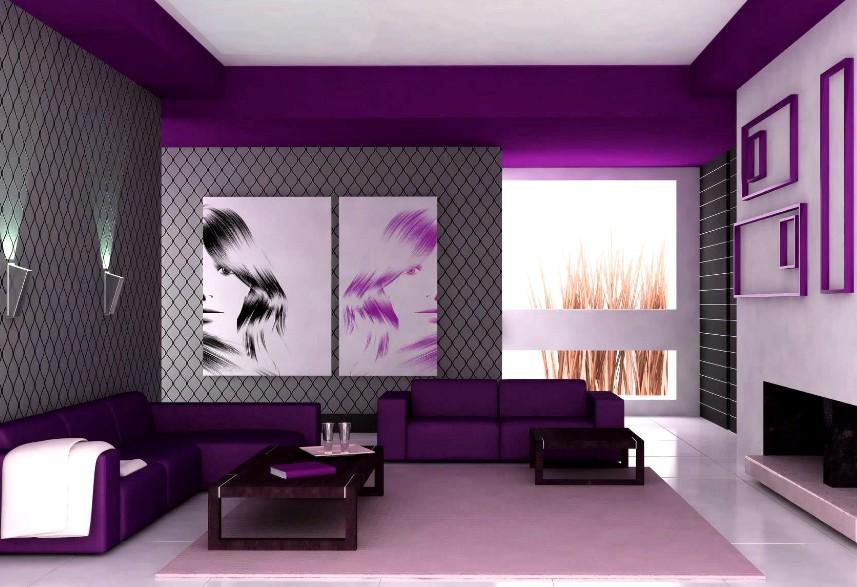 Интересный дизайн в комнате получится, если использовать обои разных оттенков - otdelat.ru