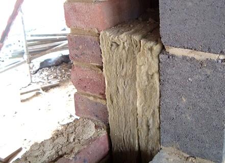 Пример того, как может быть установлена минвата в стене - otdelat.ru