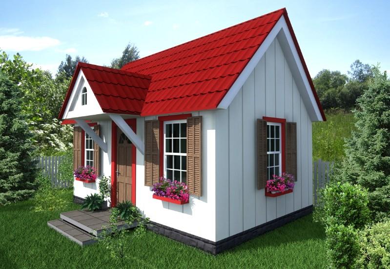 Дачники активно применяют сайдинг для отделки домиков - смотрится интересно - otdelat.ru