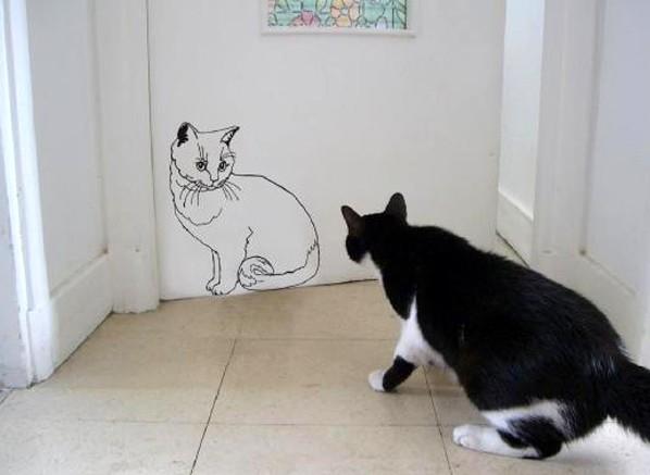 Сложные рисунки проще всего переносить на стену по номерам - как в детских учебниках по рисованию - otdelat.ru