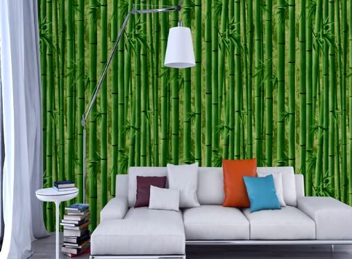Интересное решение для любителей природы - бамбуковые обои в интерьере - otdelat.ru