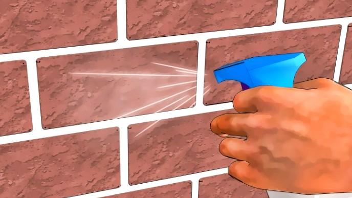 Удобный инструмент для промывки трещин в стенах - пульверизатор - otdelat.ru