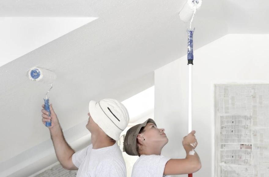 Грунтовка потолка в помещениях