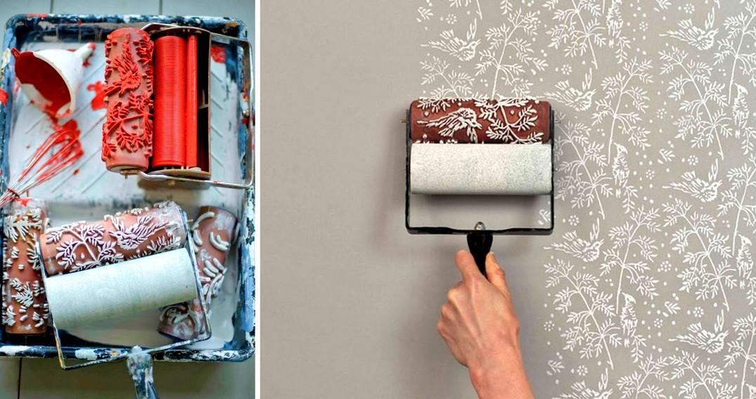 как клеить обои на стену с краской