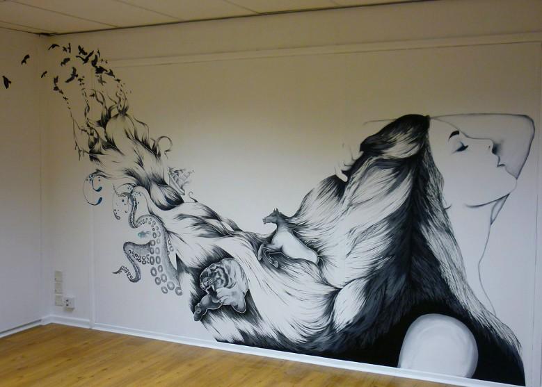 Как на стене нарисовать обои