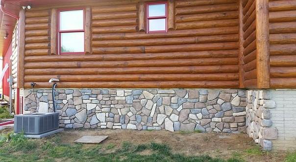 Отделка фундамента камнем - как она производится?