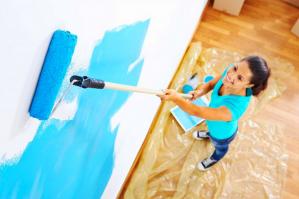 Окраска стен краской: советы и хитрости