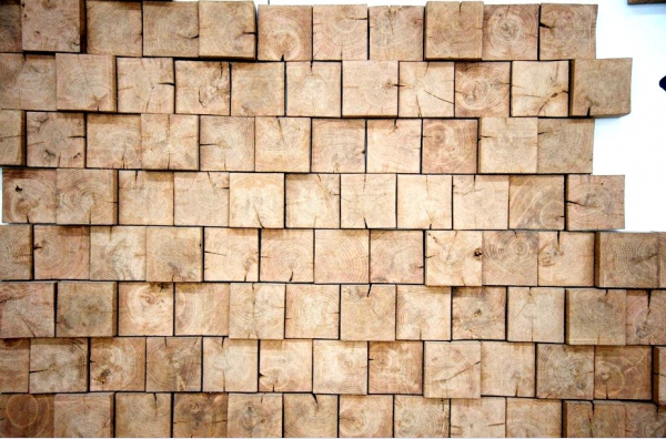 Дорого, но очень красиво - стены прихожей, оформленные деревом - otdelat.ru