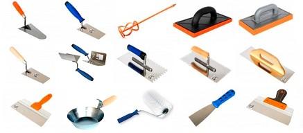 Набор необходимых инструментов для выполнения штукатурных работ - otdelat.ru