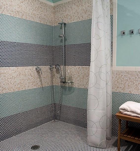 Ванная комната, облицованная пластиковой плиткой - otdelat.ru