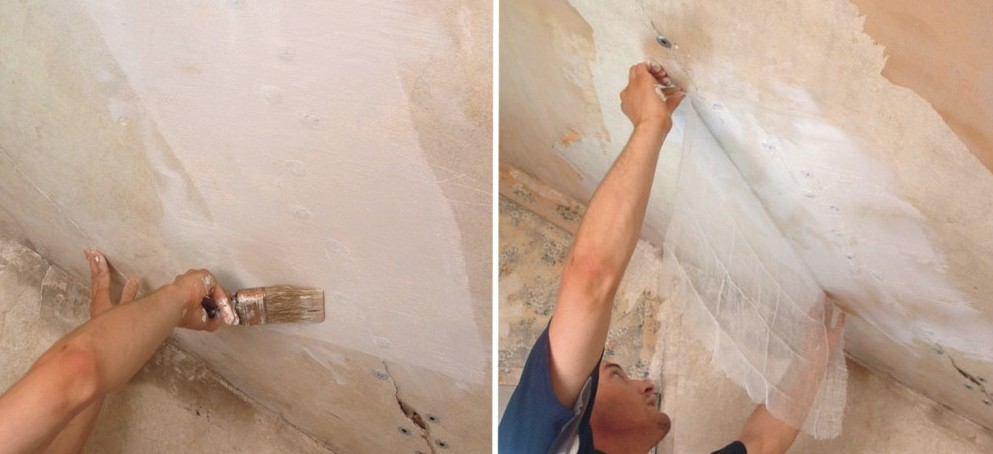 Важным этапом шпаклёвки потолка из гипсокартона является грунтовка - otdelat.ru