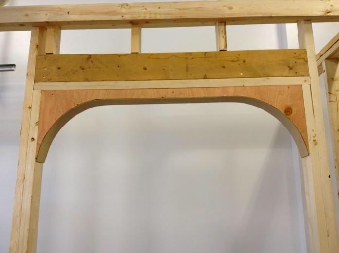 Так выглядит заготовка арочного проёма из древесины - otdelat.ru