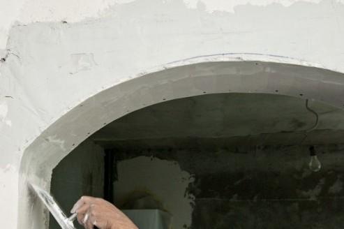 Облицовочные работы в разгаре - скоро арка будет готова полностью - otdelat.ru
