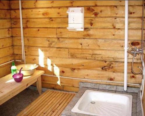 Интерьер моечной в русской бане может выглядеть так - otdelat.ru