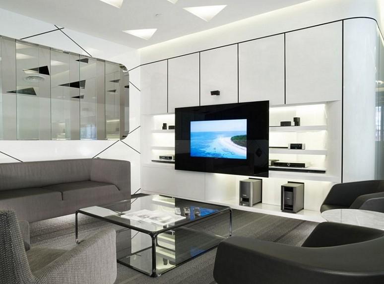 Простота, изящество, комфорт в каждой детали - в такой гостиной будет комфортно всем - otdelat.ru