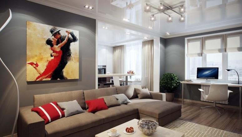 Отделка гостиной комнаты в современном стиле - otdelat.ru