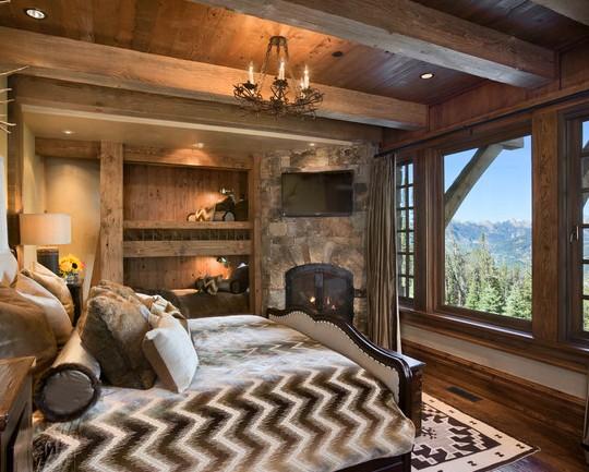 Деревенский стиль в спальной - это очень уместно - otdelat.ru