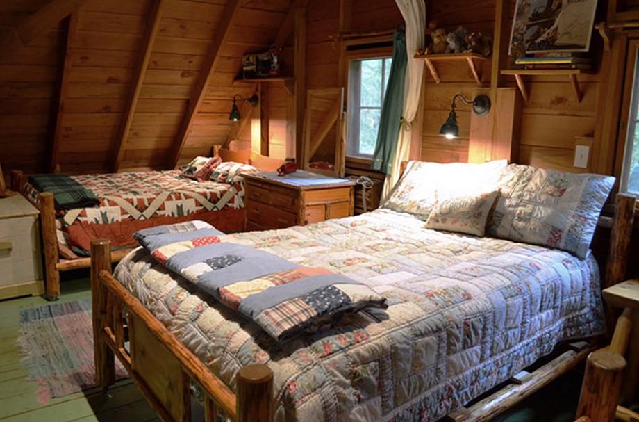 Такой интерьер спальни в частном доме будет более чем уместен - otdelat.ru